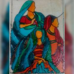 every lady carries responsibilities differently, 8 x 11 inch, banishree behura,paintings,abstract paintings,paintings for dining room,paintings for living room,paintings for office,paintings for dining room,paintings for living room,paintings for office,acrylic glass,glass,8x11inch,GAL0547413088