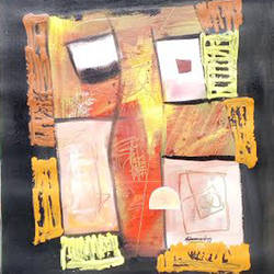 colour  mixing cube , 22 x 30 inch, naheem rustum,abstract paintings,paintings for bedroom,handmade paper,acrylic color,22x30inch,GAL034413104