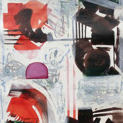 shade of red and brown , 22 x 30 inch, naheem rustum,abstract paintings,paintings for hotel,handmade paper,acrylic color,22x30inch,GAL034413107
