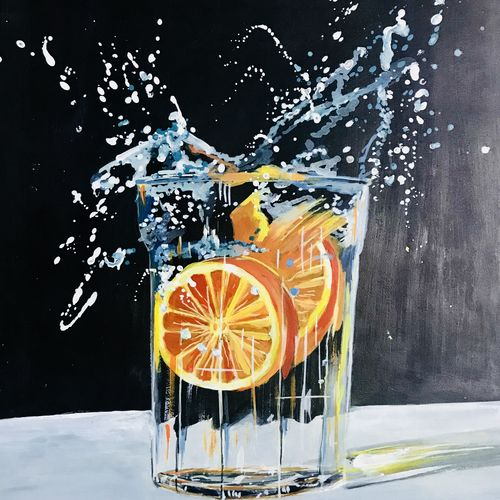 splash, 12 x 17 inch, malvika paliwal,still life paintings,paintings for dining room,paintings for living room,paintings for bedroom,paintings for office,paintings for bathroom,paintings for hotel,paintings for kitchen,ivory sheet,acrylic color,12x17inch,GAL0543413116