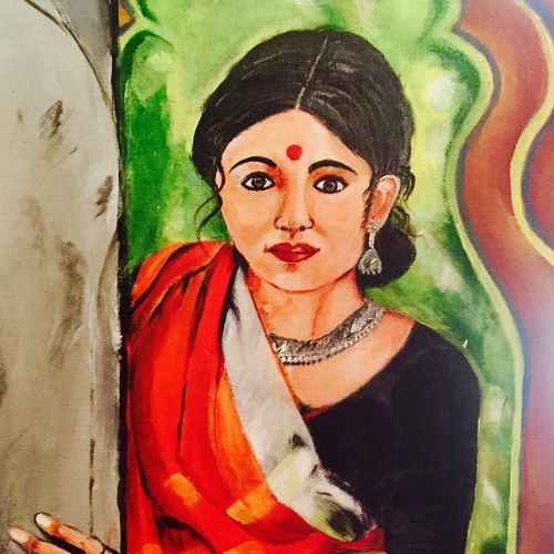indian women-epitome of art, 16 x 20 inch, ankita paneri,paintings,figurative paintings,canvas,acrylic color,16x20inch,GAL0549713126