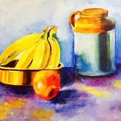 still life, 16 x 12 inch, ankita paneri,paintings,still life paintings,canvas,acrylic color,16x12inch,GAL0549713127