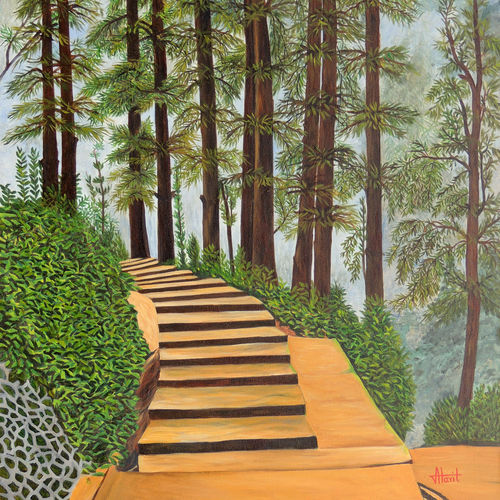 misty morning, 30 x 45 inch, ajay harit,paintings,nature paintings,realism paintings,paintings for dining room,paintings for living room,paintings for office,paintings for hotel,paintings for school,canvas,oil,30x45inch,GAL0199813152Nature,environment,Beauty,scenery,greenery