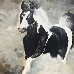 horse  on canvas, 16 x 24 inch, pankaj sisodia,paintings,animal paintings,paintings for dining room,paintings for living room,paintings for bedroom,paintings for office,paintings for hotel,paintings for dining room,paintings for living room,paintings for bedroom,paintings for office,paintings for hotel,canvas,oil,16x24inch,GAL0551413154