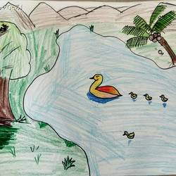 nature, 12 x 8 inch, jitendra pawar,drawings,paintings for living room,paintings for kids room,realism drawings,kids drawings,paintings for living room,paintings for kids room,paper,pen color,pencil color,12x8inch,GAL0553013174