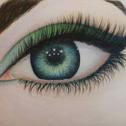 emerald eye, 15 x 11 inch, goutami mishra,portrait paintings,paintings for living room,canvas,oil,15x11inch,GAL04651320