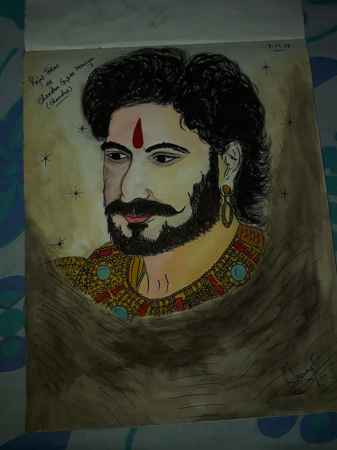 potrait of rajat tokas, 10 x 12 inch, shreya pandey,paintings,figurative paintings,realistic paintings,paintings for living room,paintings for bedroom,paintings for kids room,drawing paper,poster color,10x12inch,GAL0554813203