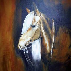 horse , 18 x 24 inch, soni  das,wildlife paintings,canvas,acrylic color,18x24inch,GAL0555813213