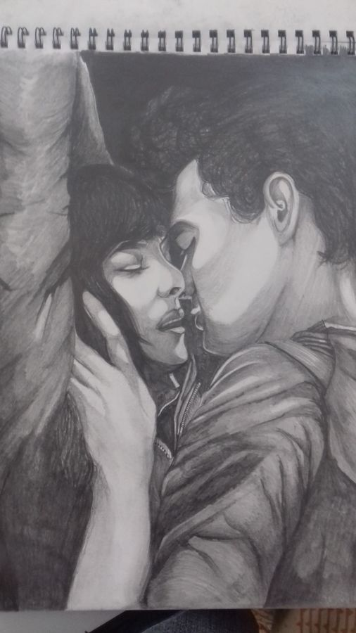 fifty shades of sketch, 12 x 17 inch, arghya halder,drawings,paintings for dining room,paintings for living room,paintings for bedroom,paintings for hotel,figurative drawings,portrait drawings,paintings for dining room,paintings for living room,paintings for bedroom,paintings for hotel,thick paper,graphite pencil,12x17inch,love,kiss,couple,black and white,romance,GAL0555913218