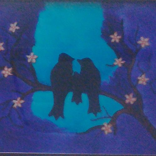 hand painted glass  - #the family, 8 x 12 inch, akhila db,art deco paintings,kids paintings,paintings for living room,paintings for bedroom,paintings for kids room,paintings for living room,paintings for bedroom,paintings for kids room,acrylic glass,acrylic color,glass,8x12inch,GAL0549513222