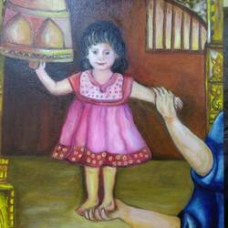 beti - the connect with the spiritual world, 24 x 30 inch, aboli moroney,paintings,figurative paintings,conceptual paintings,religious paintings,paintings for dining room,paintings for living room,paintings for bedroom,paintings for kids room,paintings for hotel,paintings for school,paintings for dining room,paintings for living room,paintings for bedroom,paintings for kids room,paintings for hotel,paintings for school,canvas,oil,24x30inch,GAL055613232