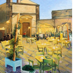 evening at cafe, 29 x 32 inch, mehul  halpati,paintings,modern art paintings,paintings for dining room,paintings for living room,paintings for hotel,paintings for dining room,paintings for living room,paintings for hotel,canvas,acrylic color,29x32inch,GAL0507113233