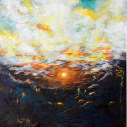 morning sun, 22 x 29 inch, mehul  halpati,paintings,modern art paintings,nature paintings,paintings for dining room,paintings for living room,paintings for bedroom,paintings for office,paintings for hotel,paintings for dining room,paintings for living room,paintings for bedroom,paintings for office,paintings for hotel,canvas,acrylic color,22x29inch,GAL0507113234Nature,environment,Beauty,scenery,greenery