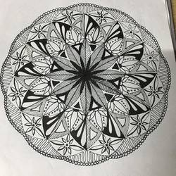 mandala, 6 x 8 inch, rashu naik,drawings,abstract drawings,paintings for dining room,paintings for living room,canvas,acrylic color,6x8inch,GAL0557213239