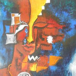 puzzle, 20 x 24 inch, poulami  mondal,abstract paintings,paintings for living room,thick paper,acrylic color,20x24inch,GAL05171325