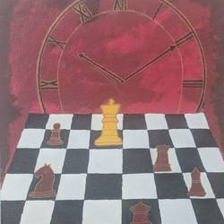 chess_time_life, 16 x 20 inch, akshat vyas,abstract paintings,paintings for dining room,paintings for living room,canvas,acrylic color,16x20inch,GAL0557813251