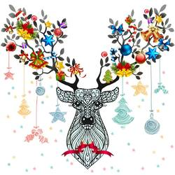 Christmas deer  art print by Gallerist