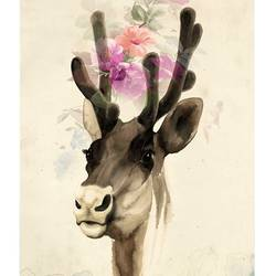 Deer with black eye art print by Gallerist