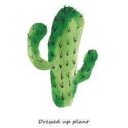 Dress up plant cactus  art print by Gallerist
