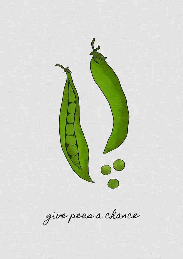 Tow small green peas