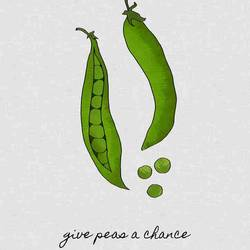 Tow small green peas art print by Gallerist