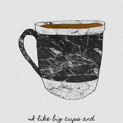 Big cup art print by Gallerist