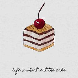 The peace of a Cake art print by Gallerist