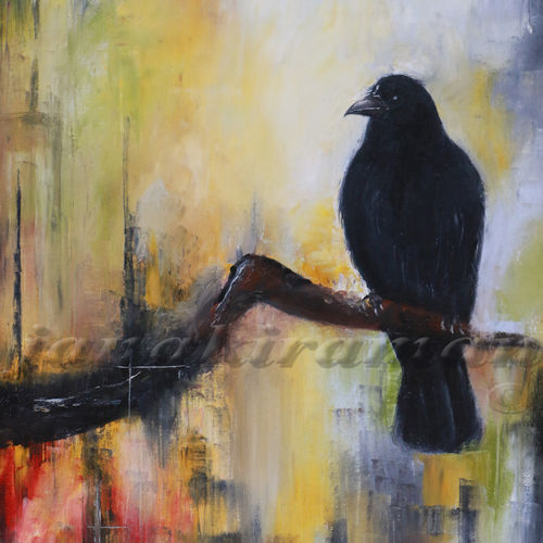 uninvited guest, 24 x 30 inch, janakiraman b,animal paintings,paintings for living room,canvas,oil,24x30inch,GAL05441337