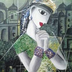 abhimanini, 12 x 16 inch, tanaya das,figurative paintings,paintings for living room,canvas,acrylic color,12x16inch,GAL05471338