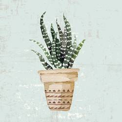 Aloe Vera plant with white dot  art print by Gallerist