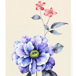 Blue glossy flower  art print by Gallerist