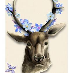 Black deer  art print by Gallerist