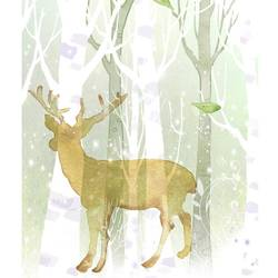 Deer in spring weather  art print by Gallerist