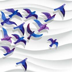Birds flying  art print by Gallerist