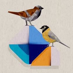 Pair of bird  art print by Gallerist