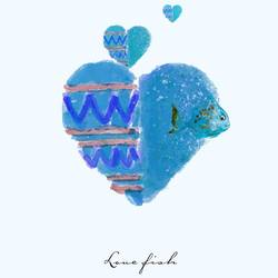 Blue Heart art print by Gallerist