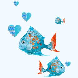 Red tail fish  art print by Gallerist