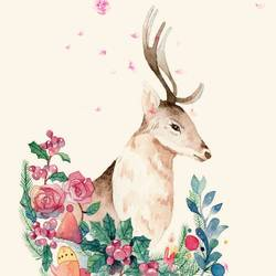 Deer with beautiful  eye's art print by Gallerist