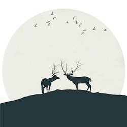 Love of black deer  art print by Gallerist