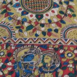 lord of love , 98 x 35 inch, mohan talisetty,folk art paintings,cloth,natural color,98x35inch,GAL05521350