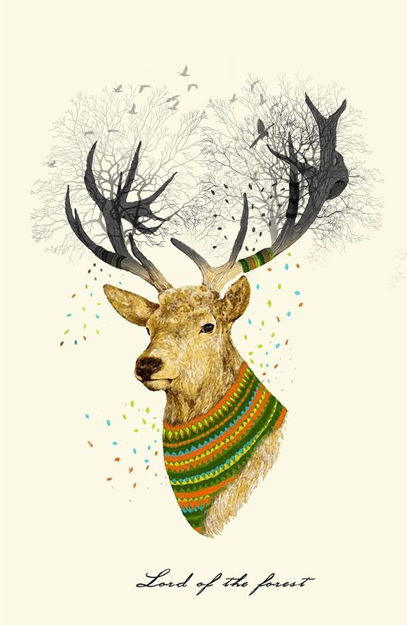Deer with shine colour