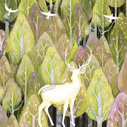 White deer  art print by Gallerist