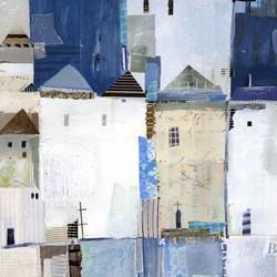 House in blue  art print by Gallerist
