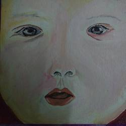 baby, 6 x 8 inch, swati satabdi,portrait paintings,canvas,acrylic color,6x8inch,GAL0560513540