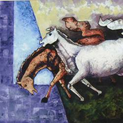 winner, 36 x 24 inch, kirtiraj mhatre,paintings,modern art paintings,canvas,oil,36x24inch,GAL0168113543