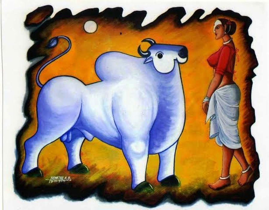 ankush-th power in hand, 48 x 36 inch, kirtiraj mhatre,paintings,modern art paintings,canvas,acrylic color,48x36inch,GAL0168113544