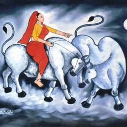 ankush-the power in hand-3, 48 x 36 inch, kirtiraj mhatre,modern art paintings,canvas,oil,48x36inch,GAL0168113545
