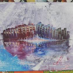 destruction in another mode of reflecti9n, 16 x 20 inch, preet harichandan,paintings,abstract paintings,landscape paintings,conceptual paintings,nature paintings,canvas,acrylic color,16x20inch,GAL0562513561Nature,environment,Beauty,scenery,greenery