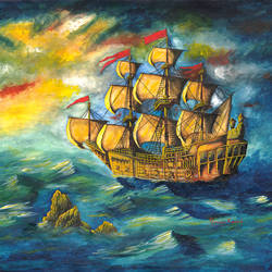 ship, 30 x 23 inch, samit kumar,paintings,landscape paintings,paintings for dining room,paintings for living room,paintings for office,paintings for kids room,paintings for hotel,paintings for school,paintings for dining room,paintings for living room,paintings for office,paintings for kids room,paintings for hotel,paintings for school,handmade paper,watercolor,30x23inch,GAL0443413598