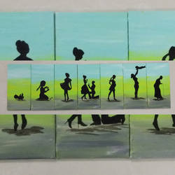journey  of women, 28 x 8 inch, khushbu  khushbu ,abstract paintings,paintings for living room,paintings for office,paintings for hotel,paintings for school,paintings for hospital,canvas,acrylic color,28x8inch,GAL0500913625